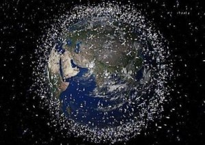 All the junk and satellites orbiting earth